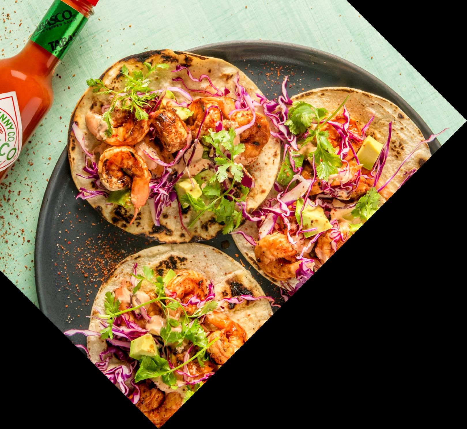 Shrimp tacos with TABASCO® Sauce