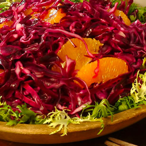 Wilted Red Cabbage Salad