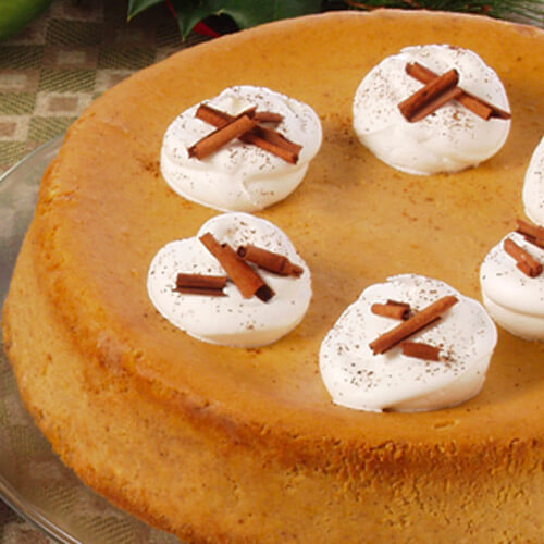 Double-Spiced Pumpkin Cheesecake