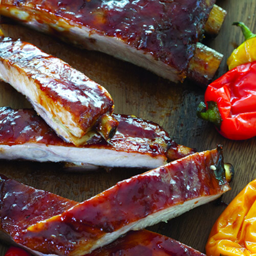 Chili-Glazed Beef Ribs