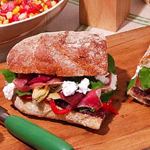 Antipasto Ciabatta Pressed Sandwich