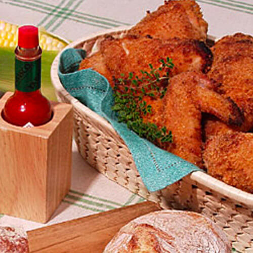 Spicy Buttermilk Oven-Fried Chicken