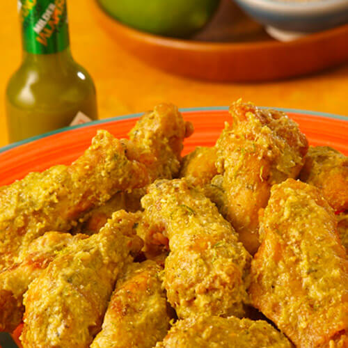 Chef Robert McGrath's Green Chile Chicken Wings with Lime-Cumin Salt