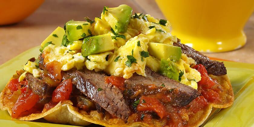 Steak & Eggs Breakfast Tostadas
