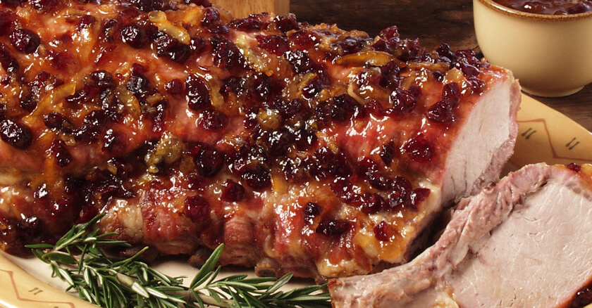 Pork Roast With Spicy Cranberry Orange Glaze
