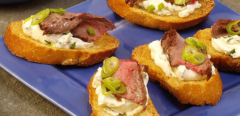 Spicy Beef and Horseradish Bites