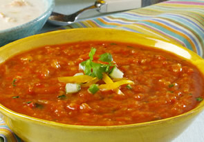 Chilled Roasted Vegetable Soup