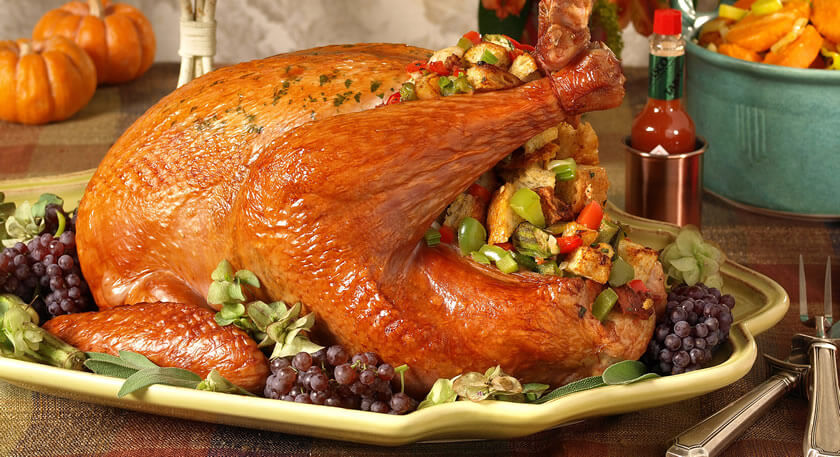 Tabasco Recipes Roast Turkey With Sausage Gumbo Stuffing