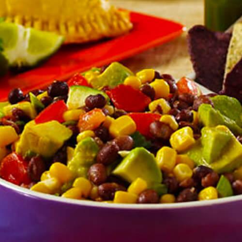 Avocado, Corn & Bean Salsa
