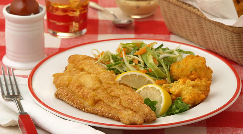Cornmeal-Crusted Catfish Fillets
