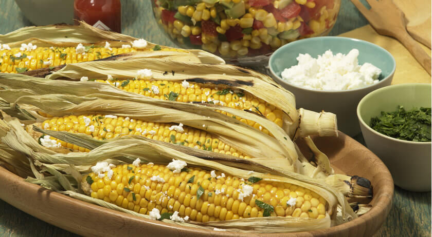 Chipotle-Lime Grilled Corn on the Cob with Queso Fresco