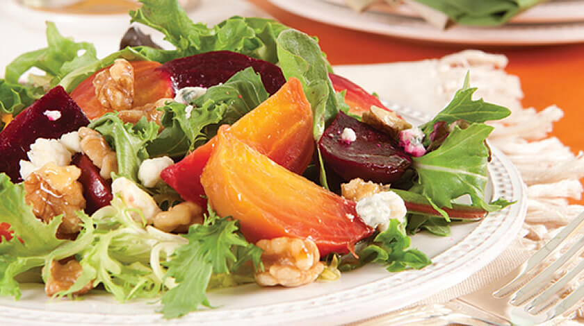 Roasted Beet Salad With Spicy Citrus Vinaigrette