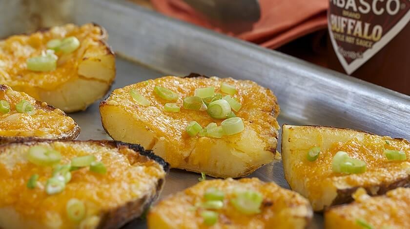 Cheesy Baked Potato Skins