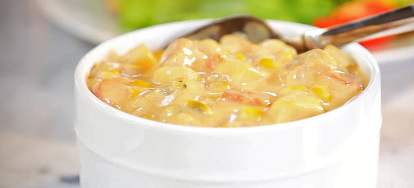 1-Step Buffalo Chicken and Corn Chowder