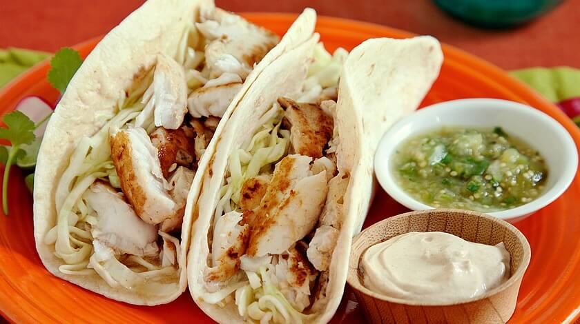 Pan Seared Jalapeño Fish Tacos with Spicy Slaw