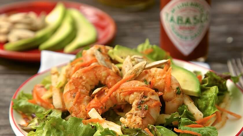 Tequila-TABASCO® Marinated Shrimp Salad