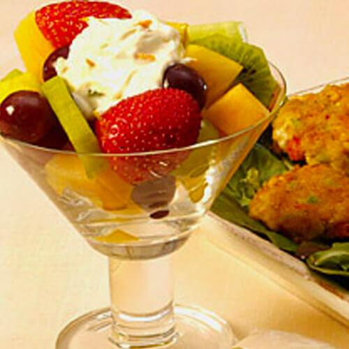 Spring Fruit Salad With Spicy Yogurt Sauce