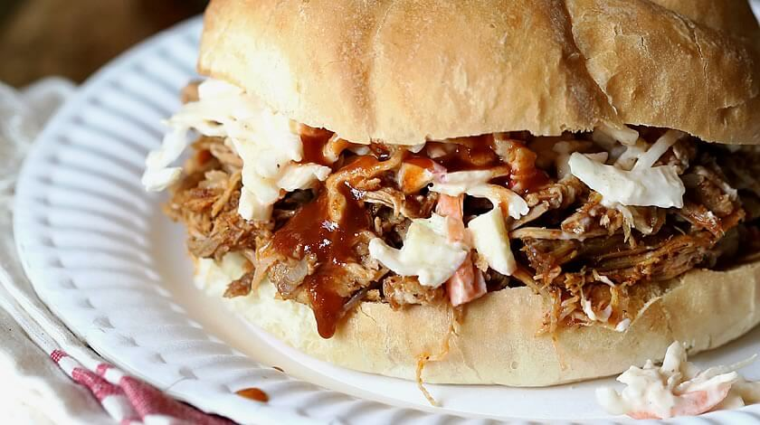 Slow Cooker Chipotle Pulled Pork with Apple Slaw