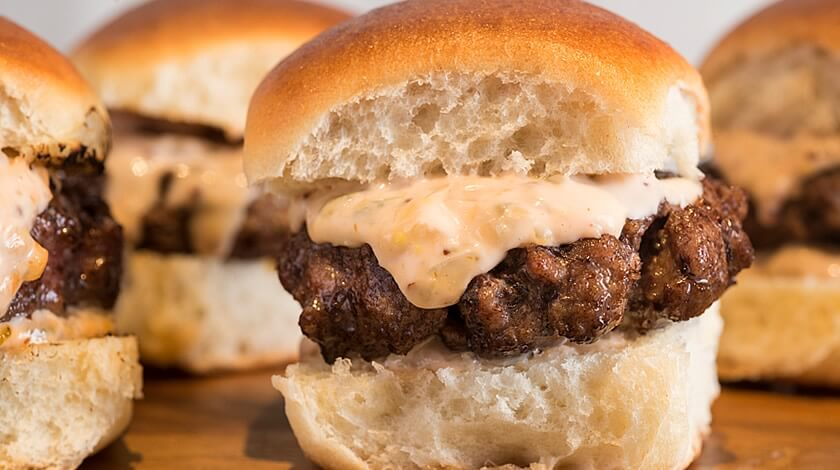 Burger Sliders with Spicy Secret Sauce