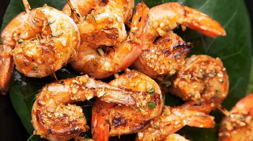 Super Grilled Shrimp with Habanero Butter