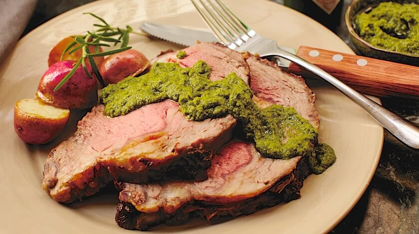 Prime Rib Roast with Salsa Verde