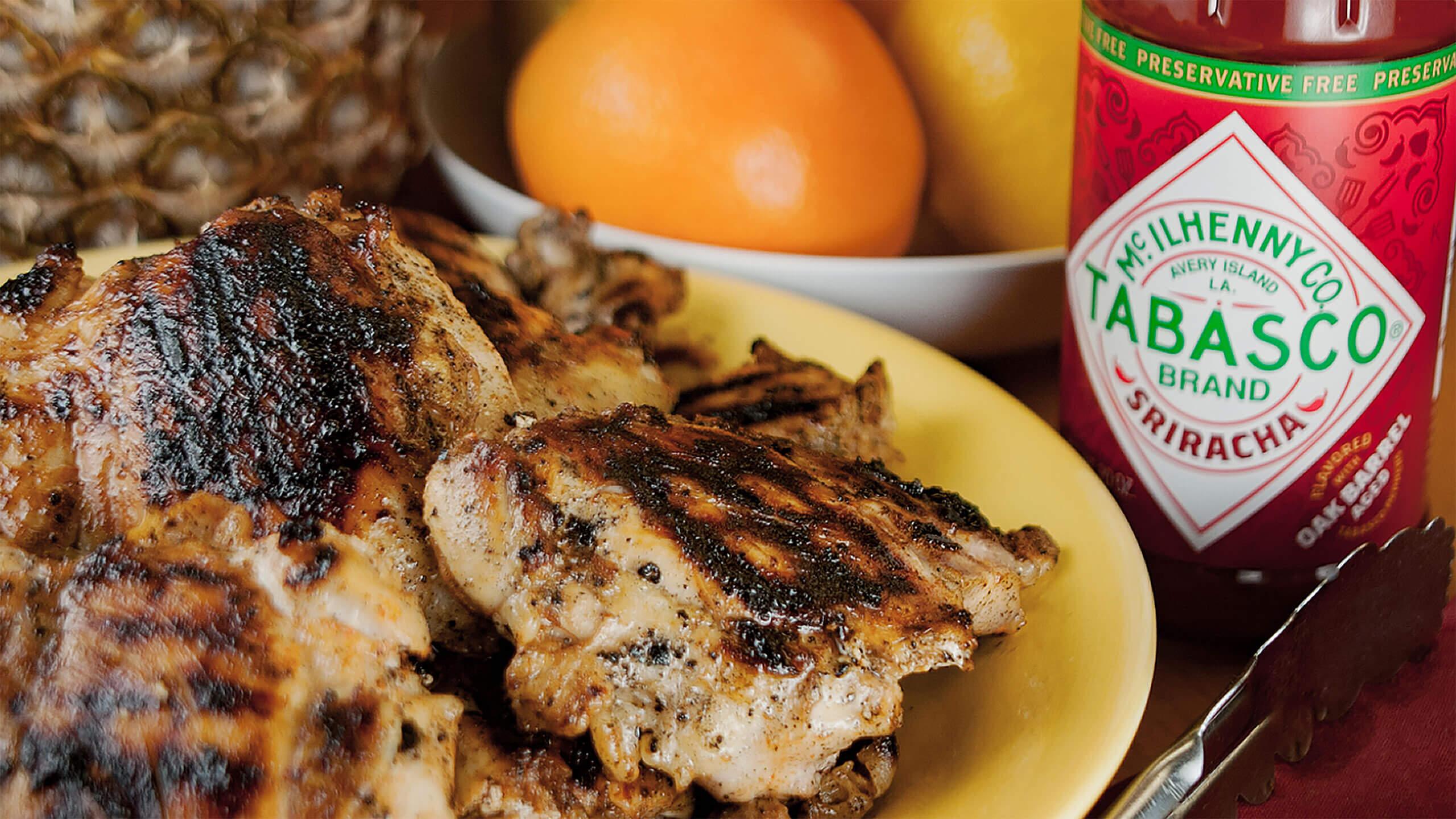 Sriracha Citrus-Ginger Grilled Chicken