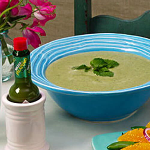 Spring Sweet Pea and Spinach Potage
