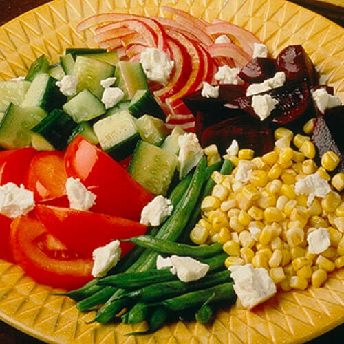 Garden Vegetable Platter With Pepper-Dijon Dressing