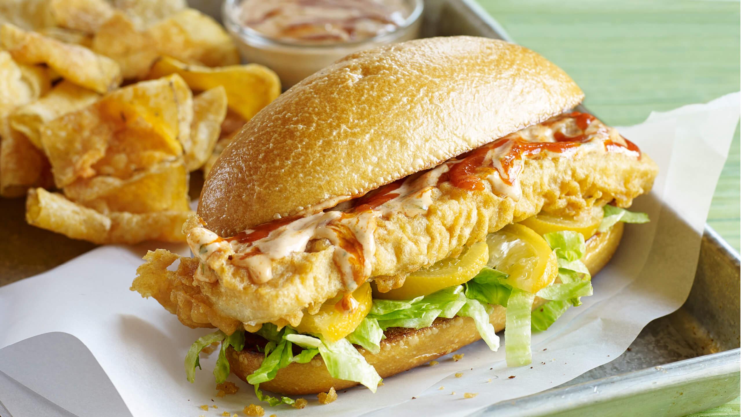 Cape Cod Fry With Sriracha Tartar Sauce
