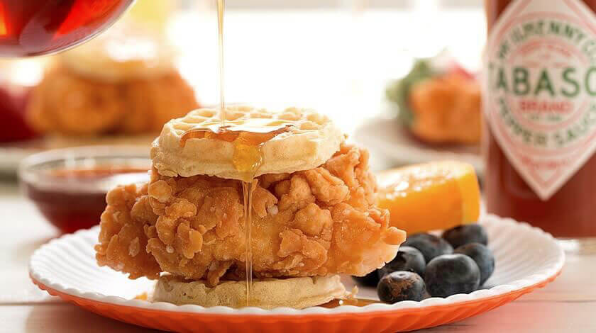 Fried Chicken & Waffle Sliders