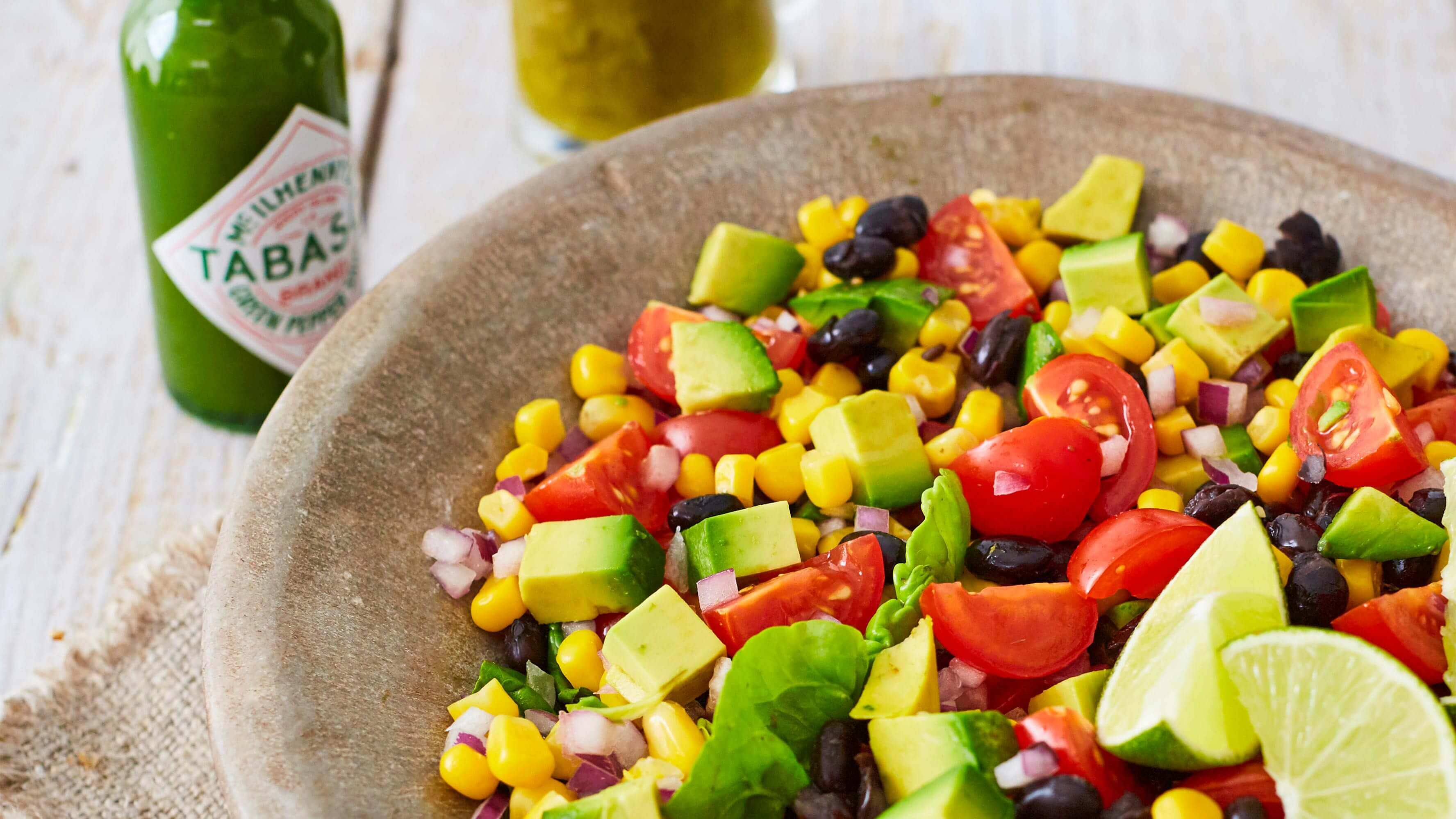 Black Bean Summer Salad with Lime Zing Dressing