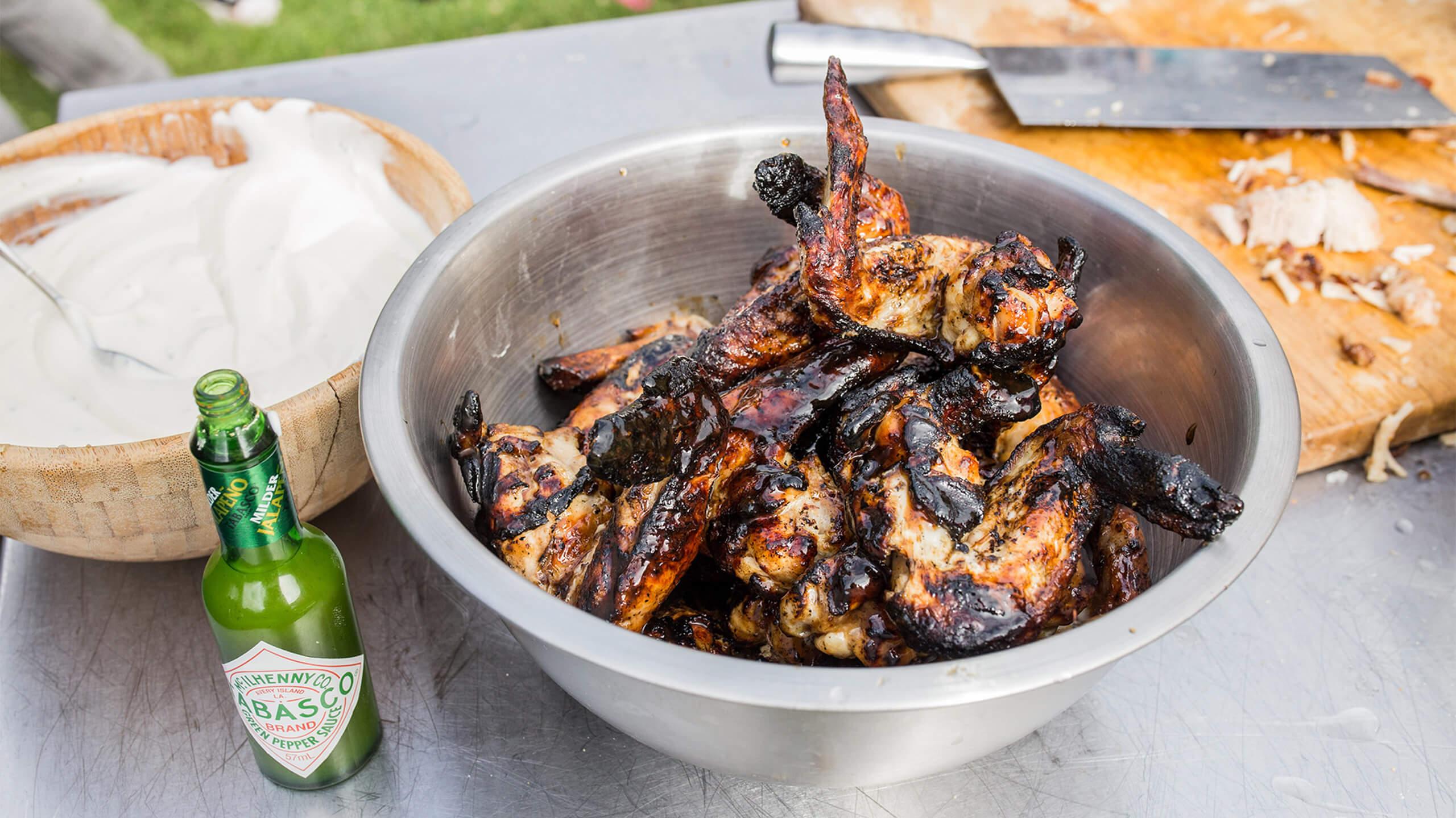 Adobo Glazed Chicken Wings