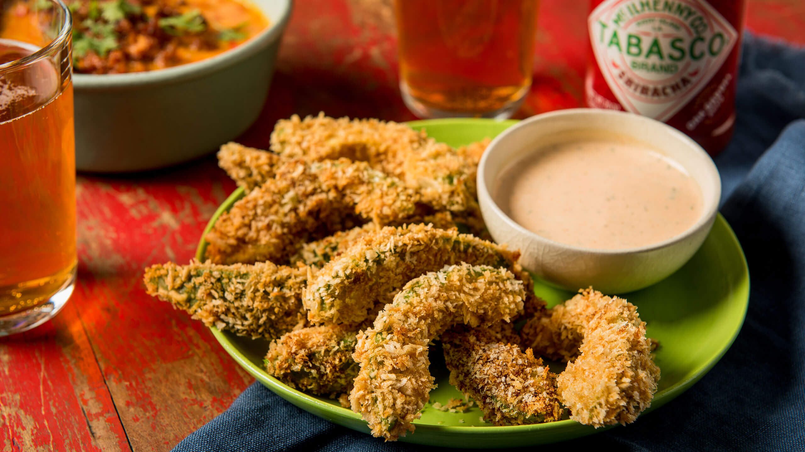 Avocado Fries with TABASCO® Sriracha Dipping Sauce