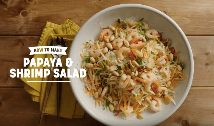 Papaya and Shrimp Salad