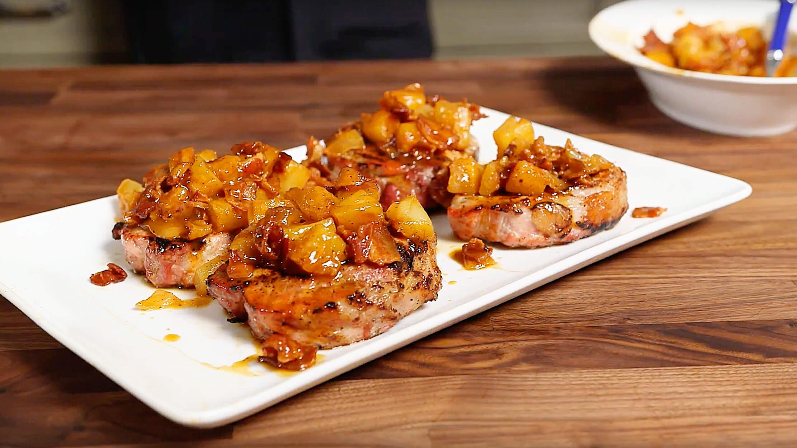 Pineapple Bacon Pork Chop