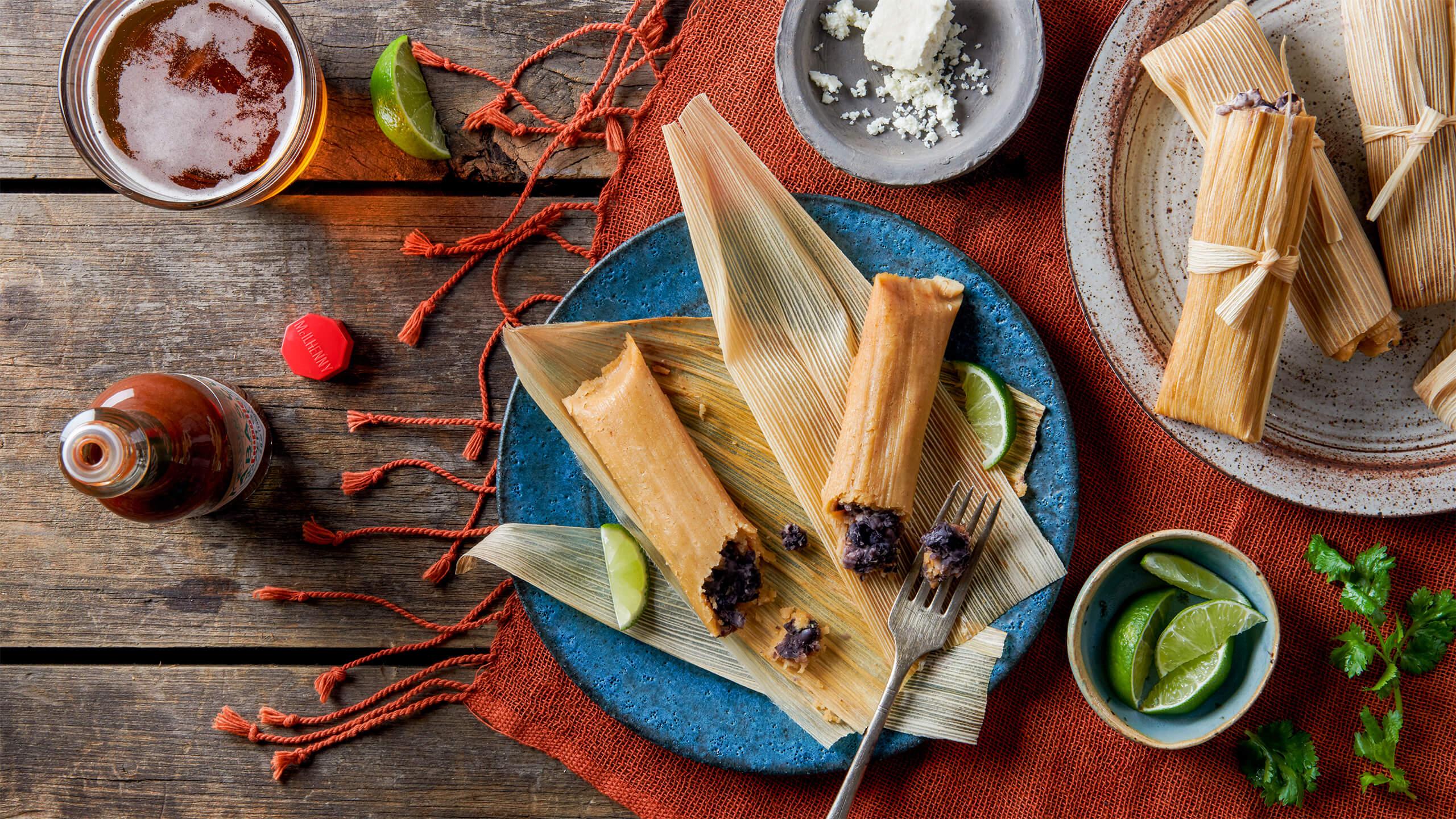 Black Bean Chipotle Oaxaca Cheese Tamales