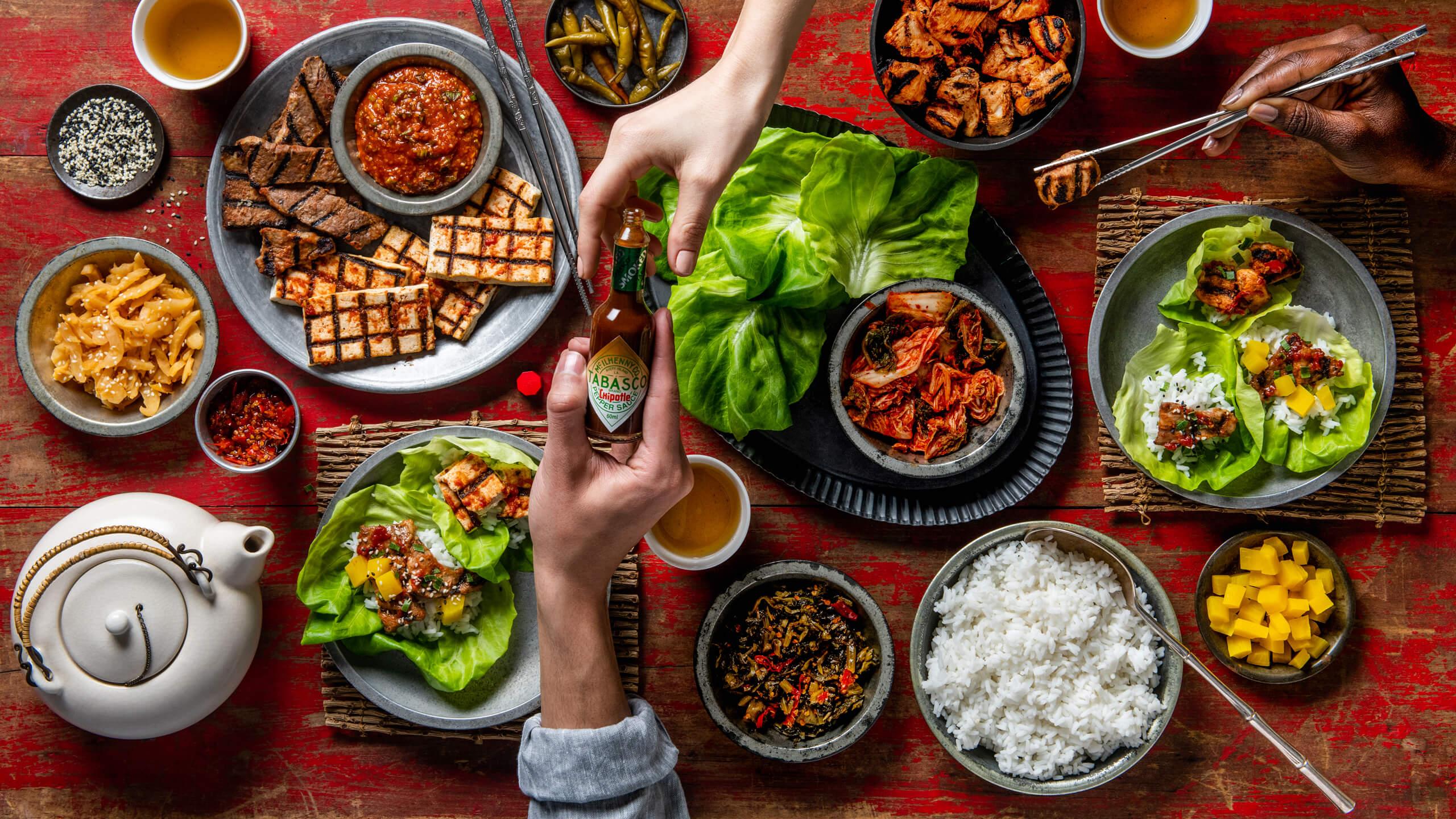 Spicy Korean BBQ with Ssäm and Ssämjang