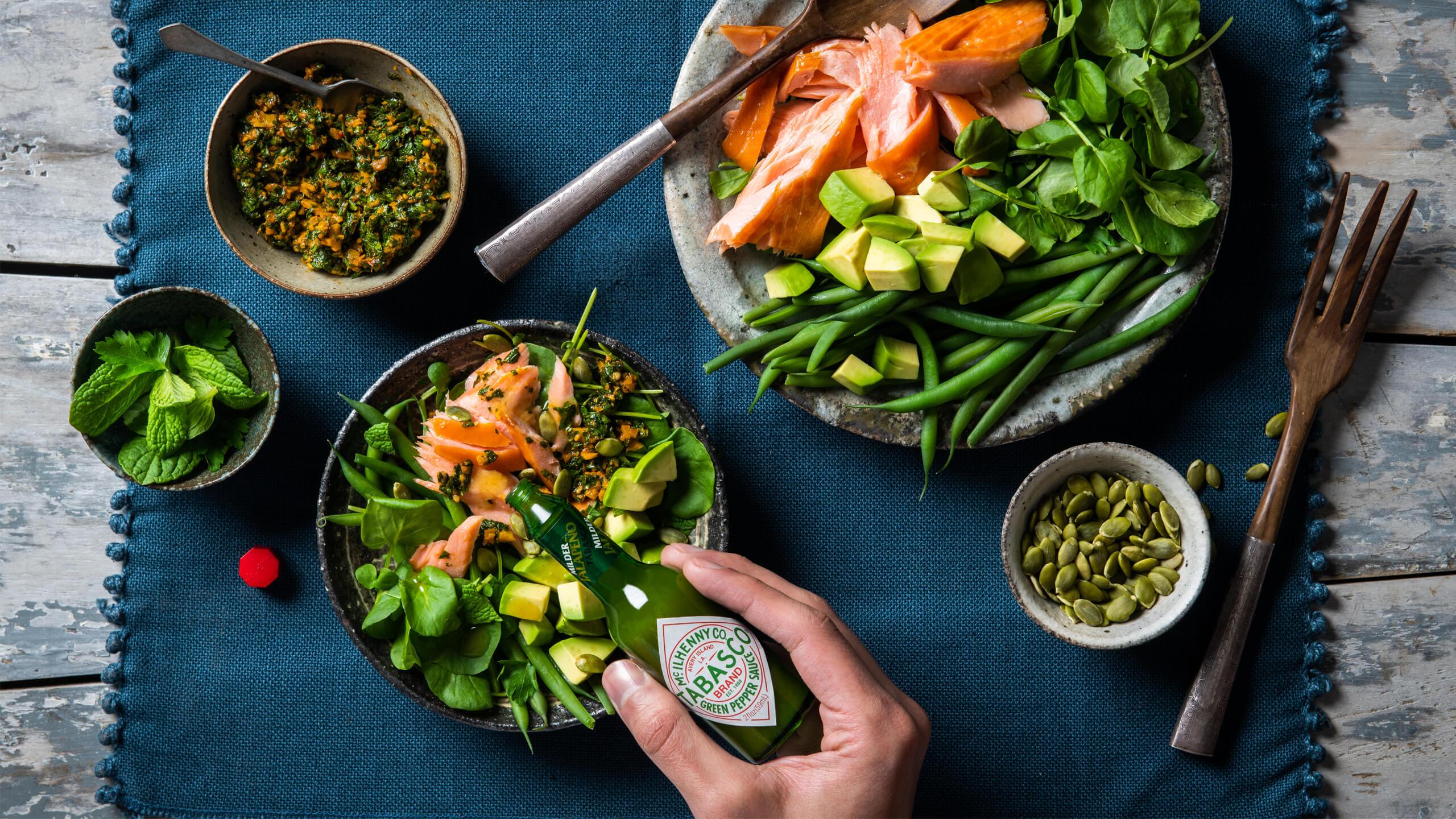 Smoked Salmon Salad with Chermoula
