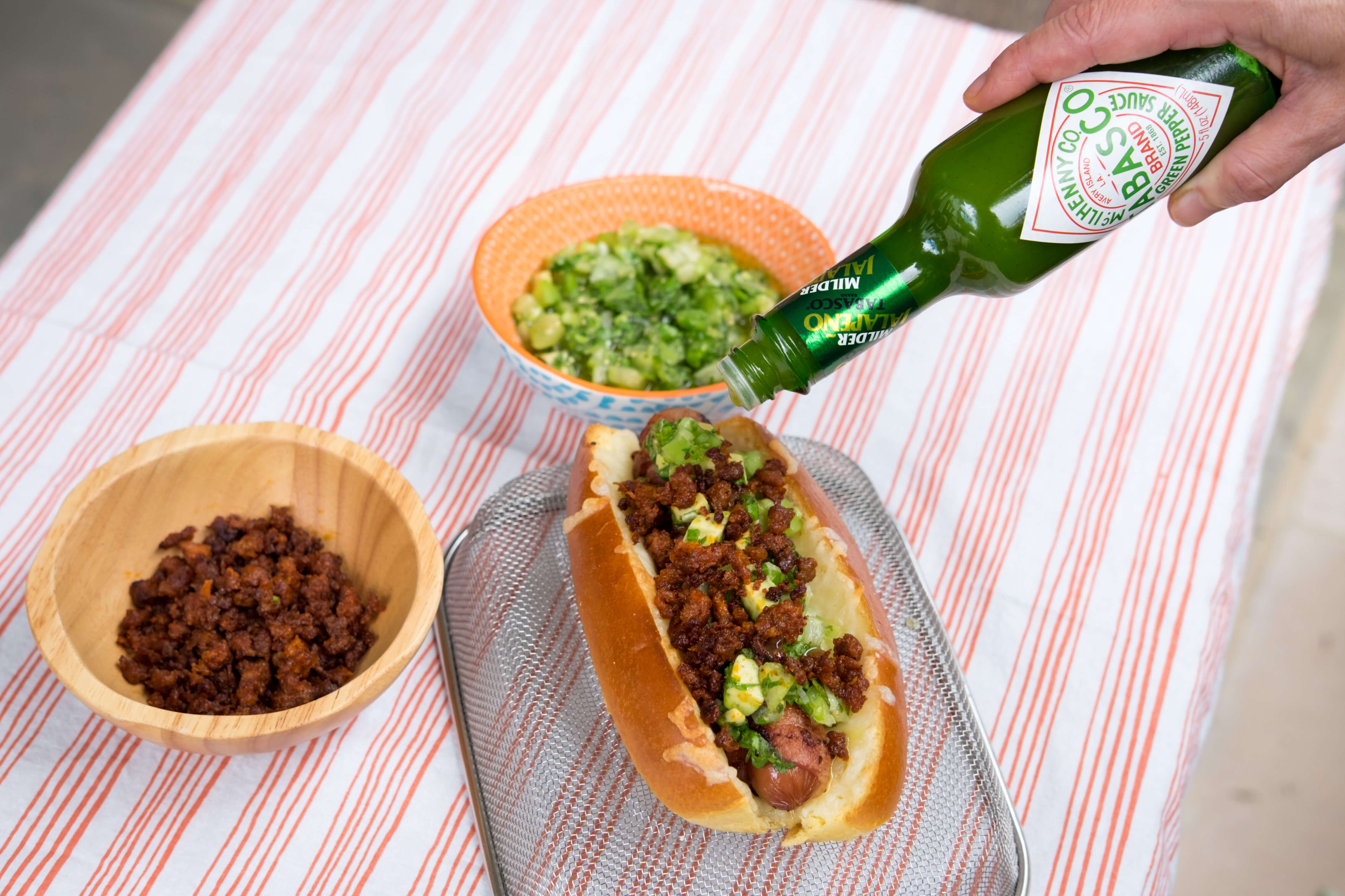 Mexican Hot Dogs with Pico Verde