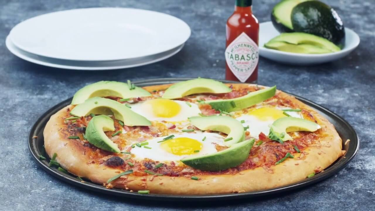 Spiced Breakfast Pizza