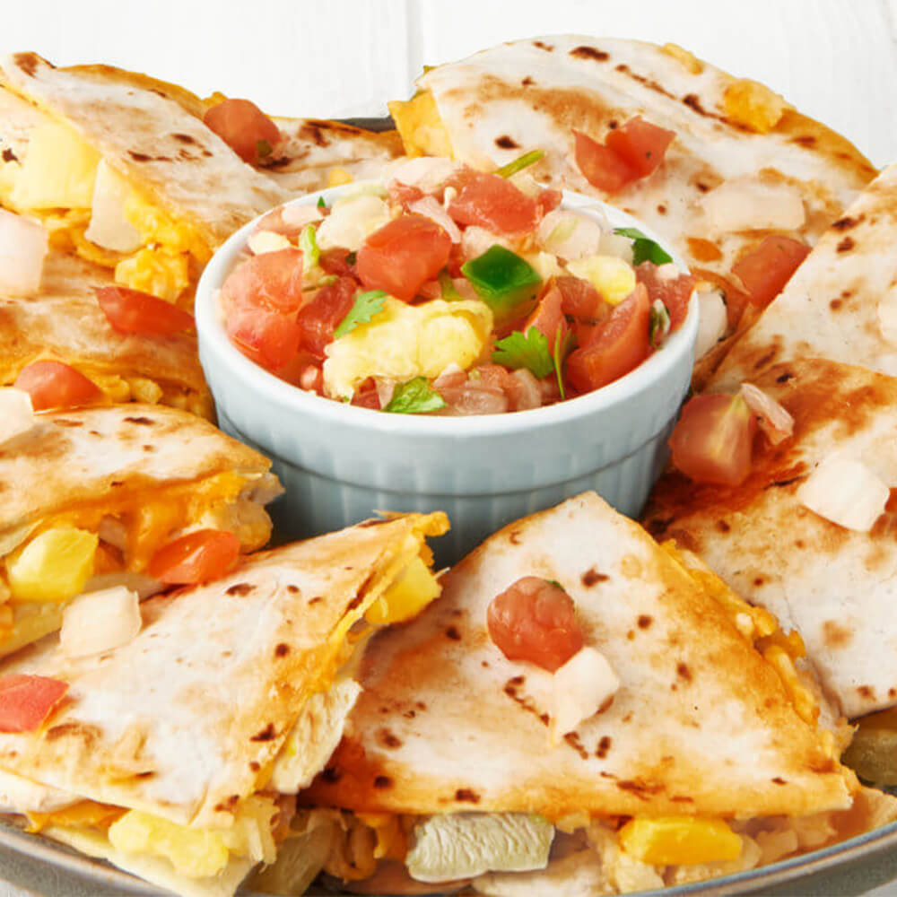 Caramelized Pineapple & Chicken Quesadillas