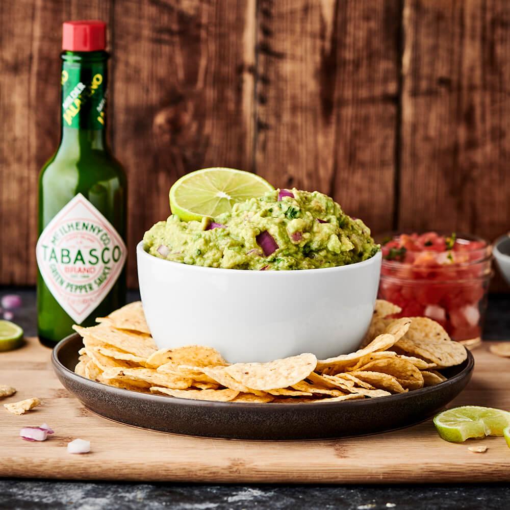 Easy Spicy Green Guacamole