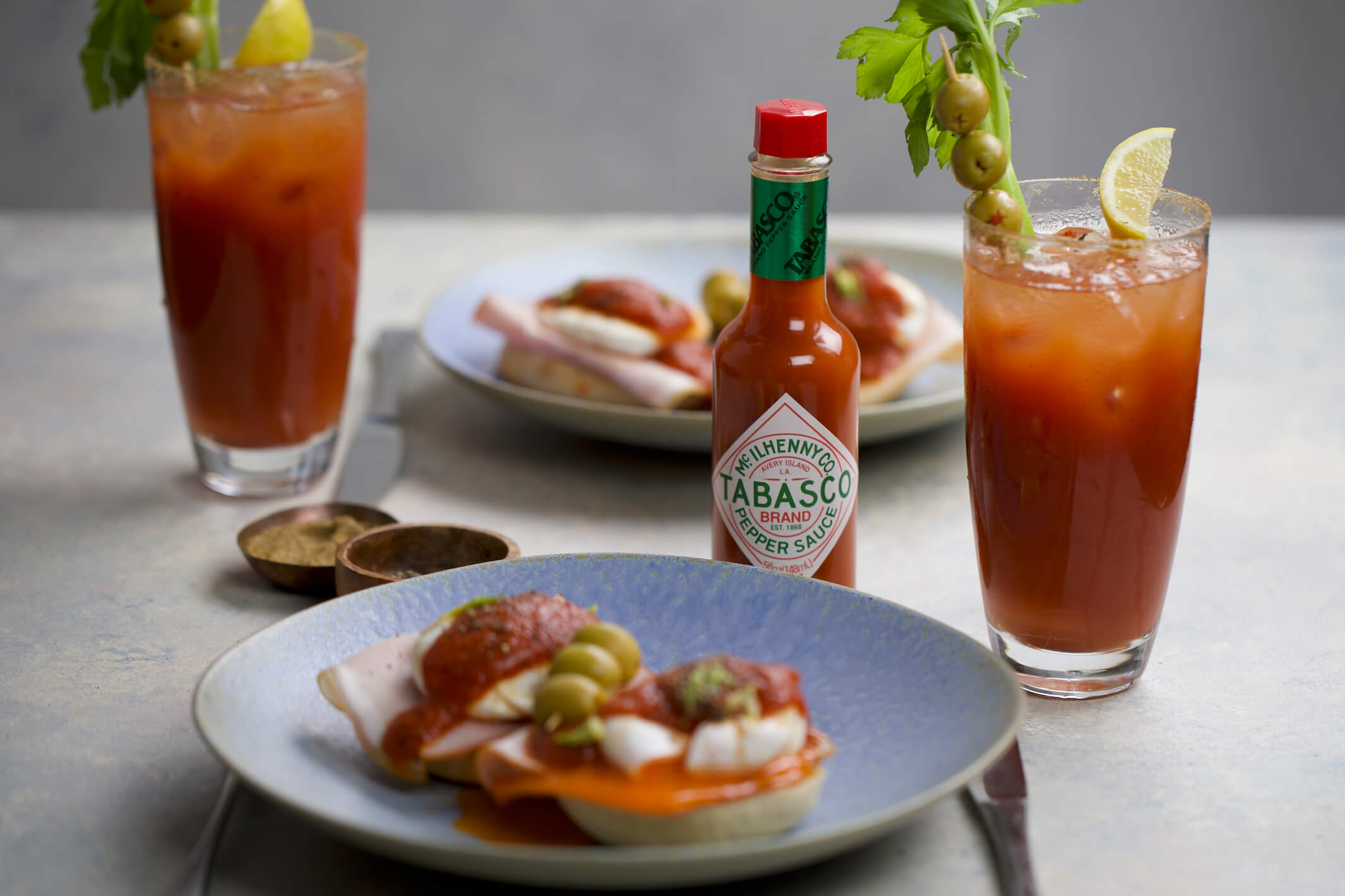 Bloody Mary Eggs Benedict