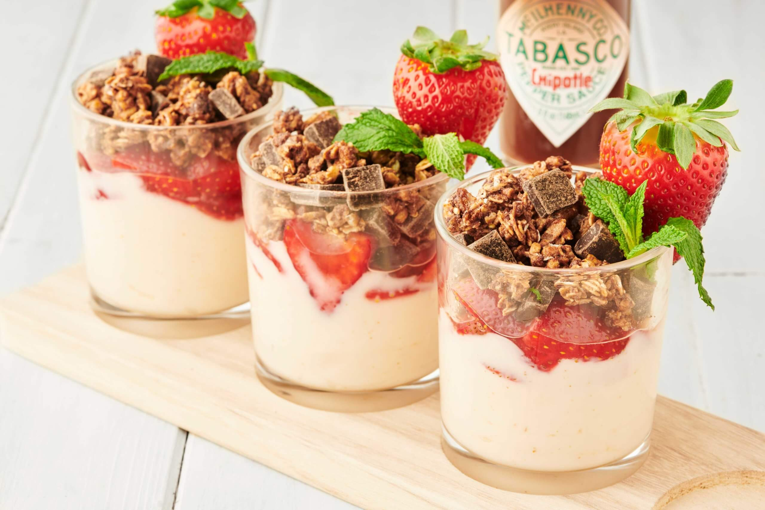 Strawberry Chipotle Yogurt Parfait