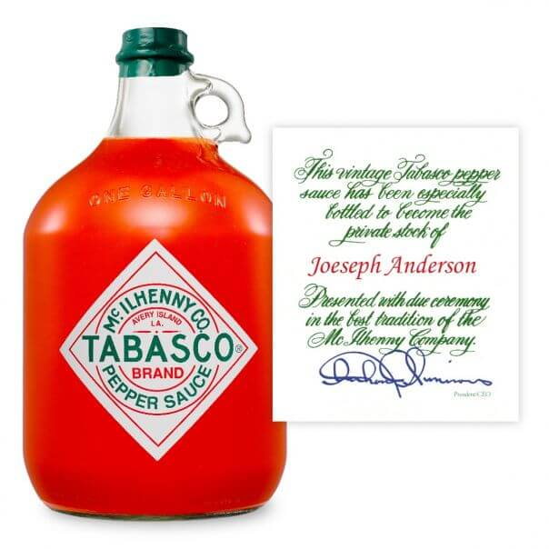 TABASCO<sup>®</sup> Personalized Gallons