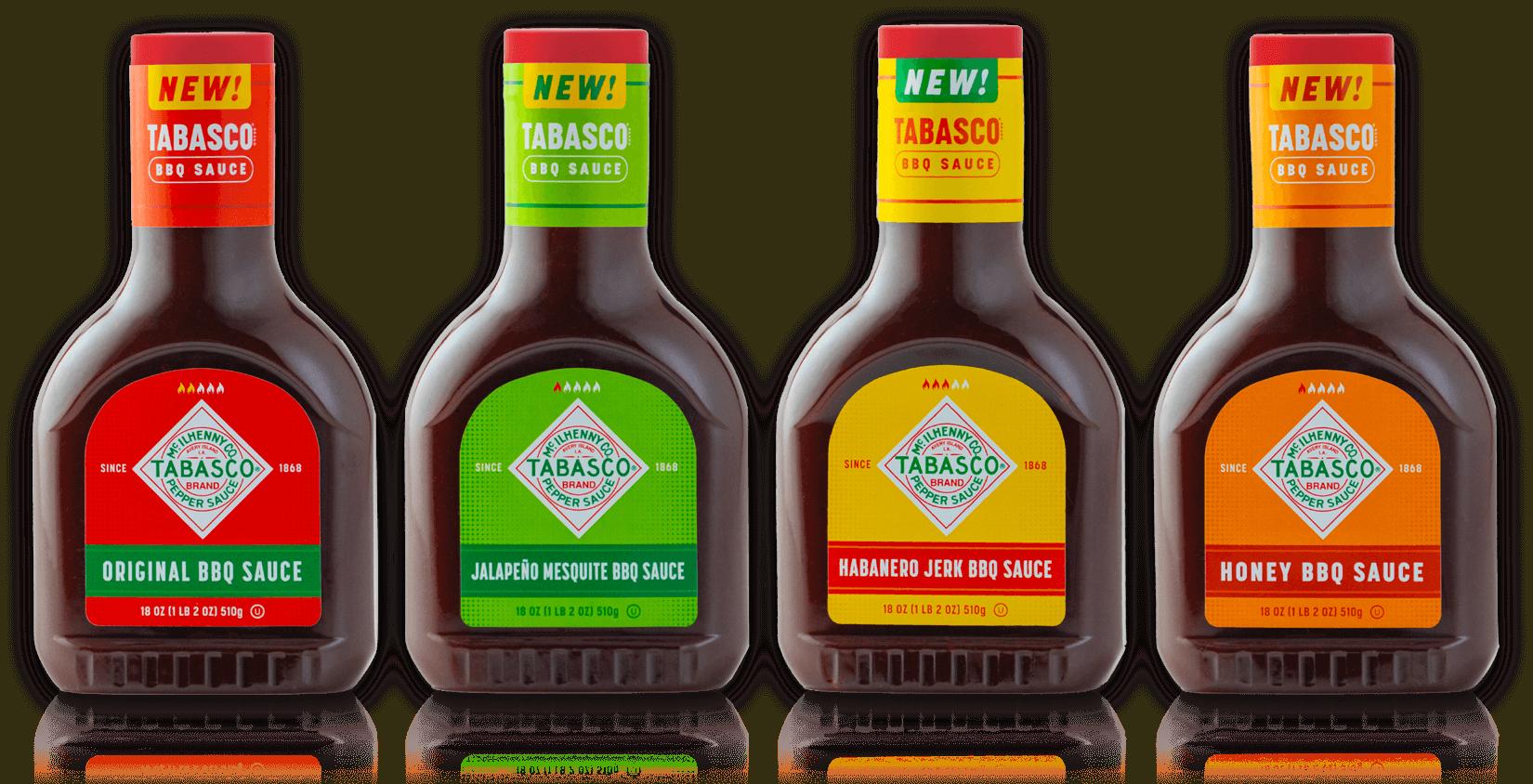 TABASCO® Brand BBQ Sauce bottles